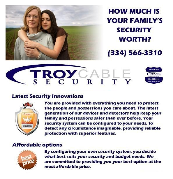 Troy Cable Security Services Flyer, Page 1